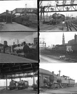 34 mostly large format glass negatives. Taken in 1930/31 includes LMS, LNER: St Enoch,