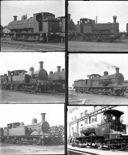 12 large format glass negatives. Taken in 1928 includes S&DJR: mostly at Highbridge. Negative