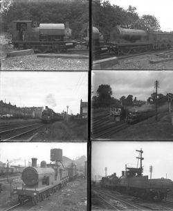 20 large format glass negatives. Taken in 1927 includes East Kent Rly, LBSCR, SECR: Mitcham,