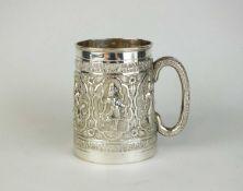 An Indian white meal mug