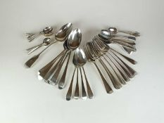 A harlequin collection of silver flatware