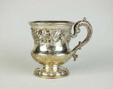 A George III silver Christening mug