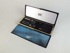 A Mont Blanc 'Meisterstruck' fountain pen and biro cased set