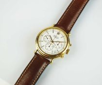 A Zenith automatic chronograph gold plated wristwatch