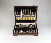 A set of Elkington & Co silver flatware