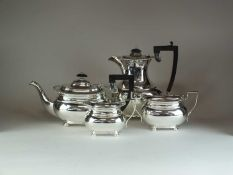A four piece silver tea and coffee service