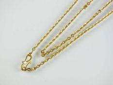 A yellow metal chain