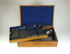 A Victorian cased canteen of silver flatware