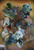 Teresa Davis (British School) Game and Hunting Animals Composition