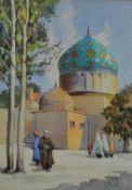 Misha Chahbazian (Iranian 20th Century), Street Scene Behind a Mosque