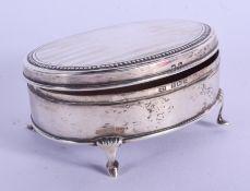 A 1920S SILVER BOX. Birmingham 1925. 94 grams. 8 cm x 6 cm.