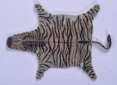 A COLD PAINTED BRONZE ZEBRA SKIN RUG. 11 cm x 7 cm.