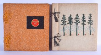 TWO JAPANESE PHOTOGRAPH ALBUMS. (qty)
