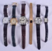 ASSORTED WATCHES. (6)