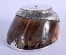 A VICTORIAN TAXIDERMY RACEHORSE HOOF by Rowland Ward Ltd, presented to Group 1 winner & 1894 Derby r
