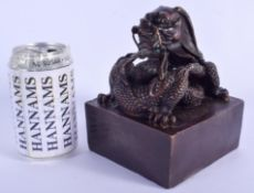 A LARGE CHINESE BRONZE SEAL 20th Century. 16 cm x 11 cm.
