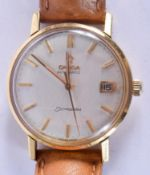 A VINTAGE OMEGA AUTOMATIC SEAMASTER WRISTWATCH. 3.25 cm diameter.