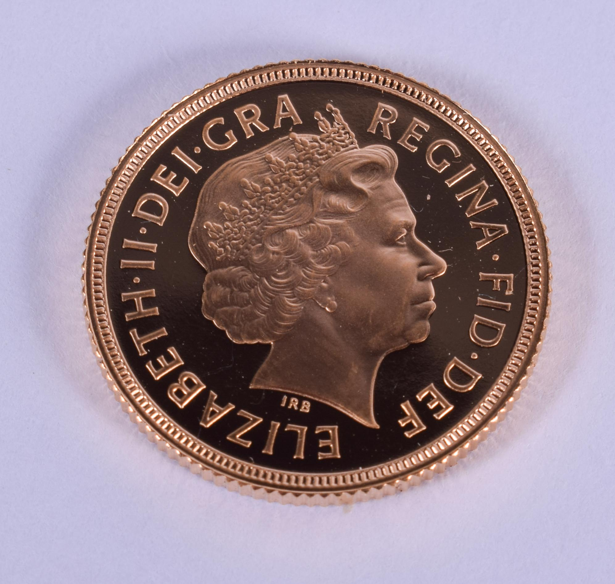A BOXED 1998 PROOF SOVEREIGN. 2 cm diameter. - Image 2 of 3