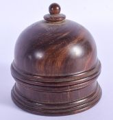 AN EARLY 20TH CENTURY CONTINENTAL CARVED IVORY SPINNING GLOBE within a fitted treen box and cover. I