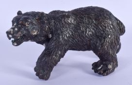 A CONTINENTAL BRONZE BEAR. 14 cm wide.