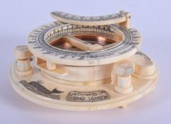 A CONTINENTAL BONE COMPASS. 10 cm diameter.
