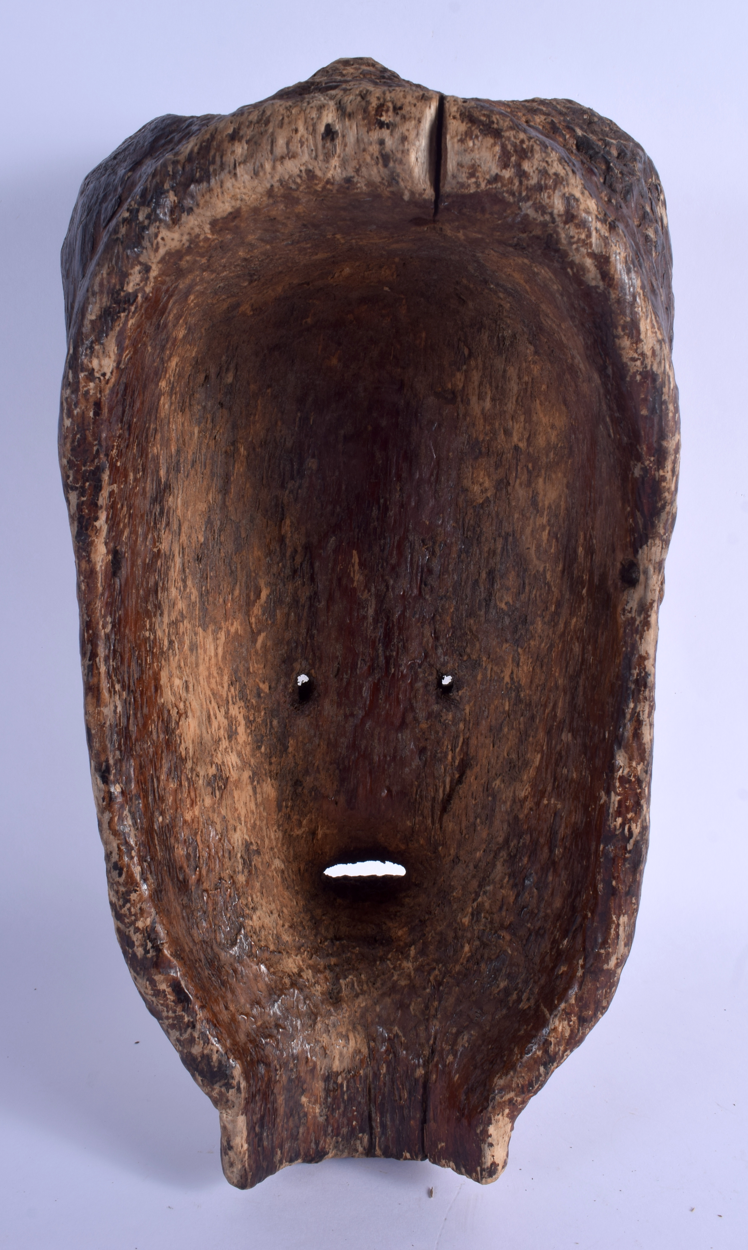 AN AFRICAN TRIBAL POLYCHROMED MASK. 35 cm x 16 cm. - Image 2 of 2