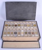 ASSORTED VINTAGE MICROSCOPE SLIDES including Flies, Mites, Crabs etc. (qty)
