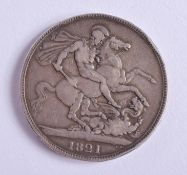 A GEORGE IV 1821 SILVER CROWN.