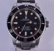 A GOOD ROLEX MODEL 16800 SUBMARINE BLACK DIAL WRISTWATCH C1983/84 with discontinued T25 dial, serial