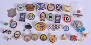 ASSORTED SPORTING BADGES. (qty)