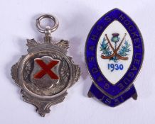 TWO SILVER AND ENAMEL MEDALS. Birmingham 1929. 16 grams. (2)