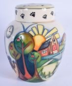 A BOXED MOORCROFT LIMITED EDITION COLLECTORS CLUB GINGER JAR C2009 No 18 of 250, decorated with dadd