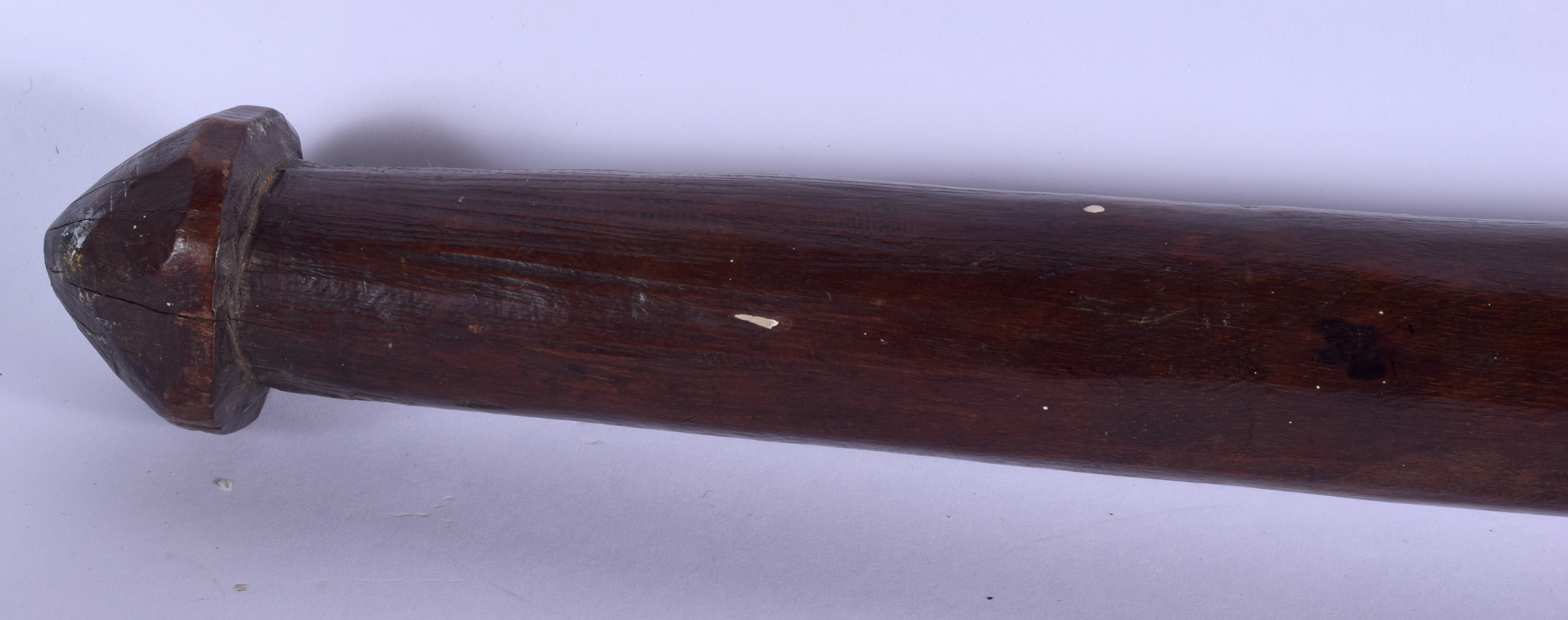 A 19TH CENTURY FIJIAN TRIBAL SALI CLUB decorated with motifs. 99 cm long. - Image 7 of 7