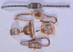 FIVE VINTAGE WATCHES. (5)