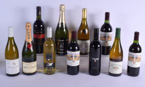 ELEVEN BOTTLES OF MIXED VINTAGE WINE & MOET CHANDON CHAMPAGNE C2001 to 2006 mainly. (11)