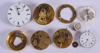 WATCH MOVEMENTS and dials. (qty)