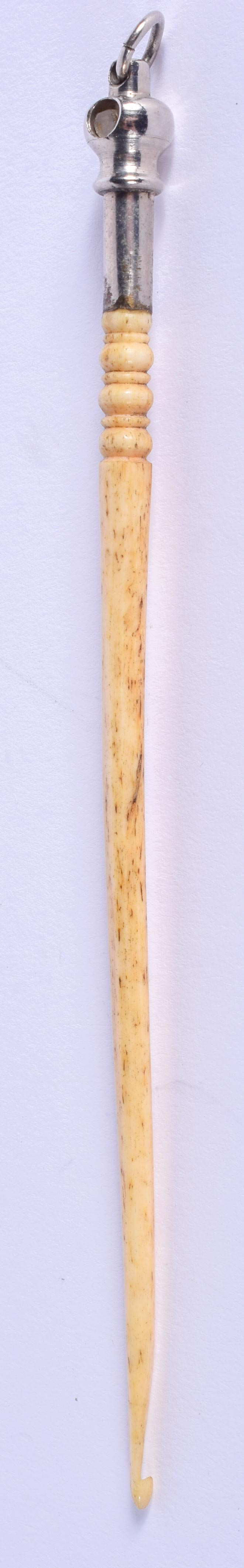 A RARE ANTIQUE BONE STANHOPE a memory of Rothesay. 12 cm long. - Image 2 of 3