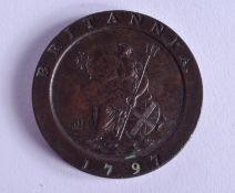 A 1797 TWO PENNY CARTWHEEL IN EF CONDITION