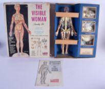 THE VISIBLE WOMEN RETRO VINTAGE ASSEMBLY TOY KIT. Box 40 cm x 35 cm.
