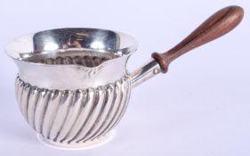 A VINTAGE MERGULHAO SILVER BRANDY WARMER. 40 grams. 8.5 cm wide.