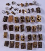 ASSORTED WATCH AND CLOCK PARTS. (qty)
