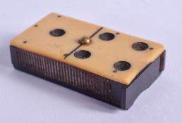 A RARE ART DECO BAKELITE DOMINO MATCH BOX. 4.5 cm x 2.75 cm.