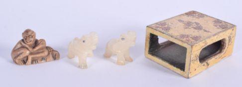 A KASHMIR LACQUER MATCHBOX HOLDER etc. (4)
