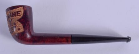 A RARE 19TH CENTURY GOLFING HOLE IN ONE PIPE. 12.5 cm long.