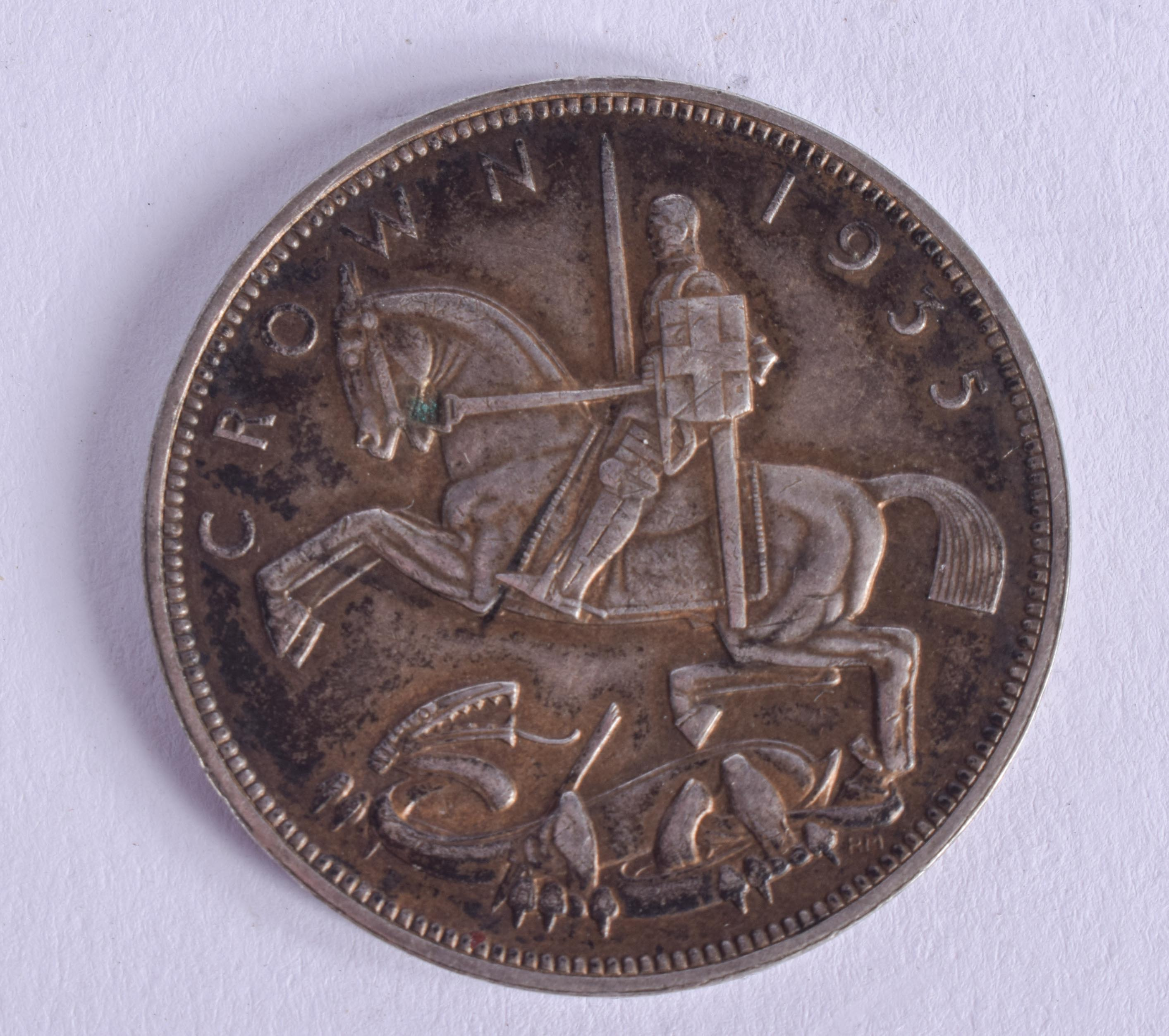 A GEORGE V 1935 SILVER CROWN. - Image 2 of 2
