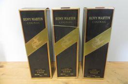 3 bottles Remy Martin VSOP Fine Champagne Cognac, boxed (Est. plus 21% premium inc. VAT)