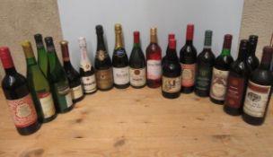 18 bottles of European and New World wine, including 1 bottle Belnor Grand Reserve Sparkling