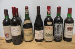 8 bottles of European and New World Wine, comprising 2 bottles 2001 Boschendal Pavillion Rouge, 1