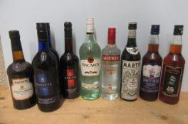 9 bottles of liqueur, comprising 2 litres Harveys Bristol Cream, 1 bottle Harveys Amontillado medium