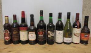 1 bottle White Horse Whisky, one bottle Martell Cognac VS, 1 bottle Polski, 1 bottle Apricot Brandy,
